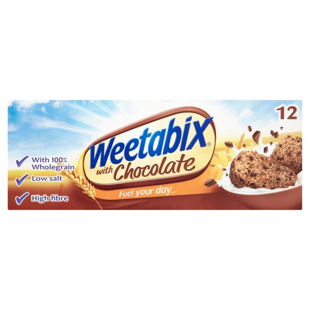 Weetabix Wholegrain Wheat Cereal with Chocolate Chips 12 pack