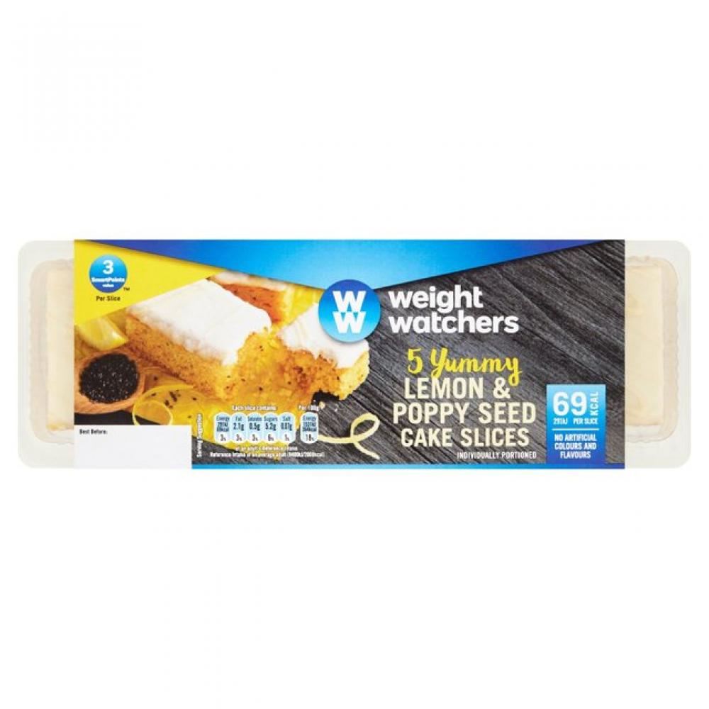 Weight Watchers Yummy Lemon and Poppy Seed Cake Slices 5 pack