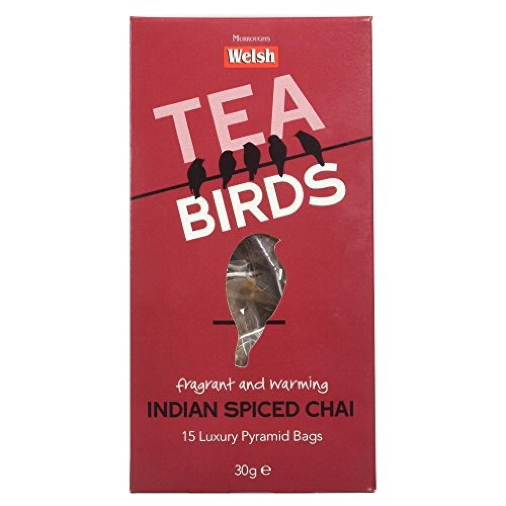 Welsh Brew Tea Birds Indian Spiced Chai Teabags