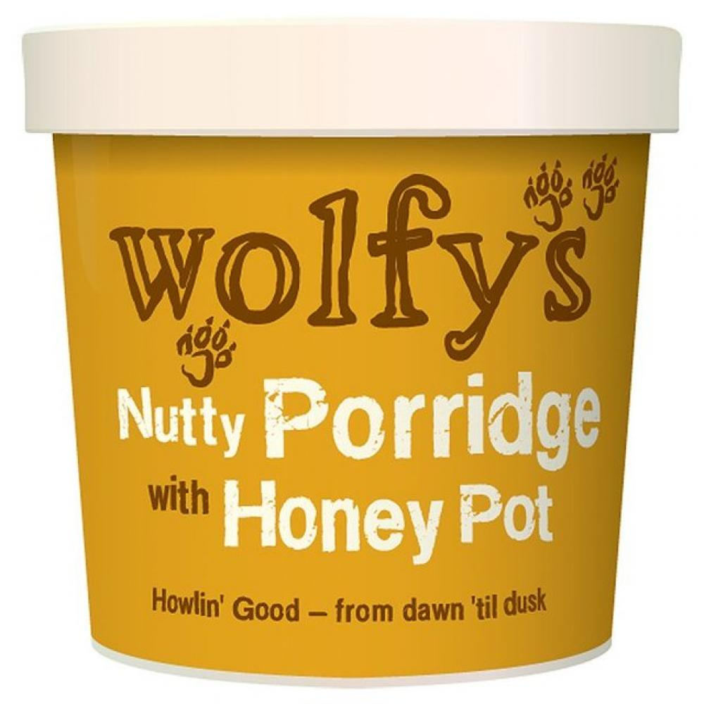 Wolfys Nutty Porridge with Honey Pot 90g
