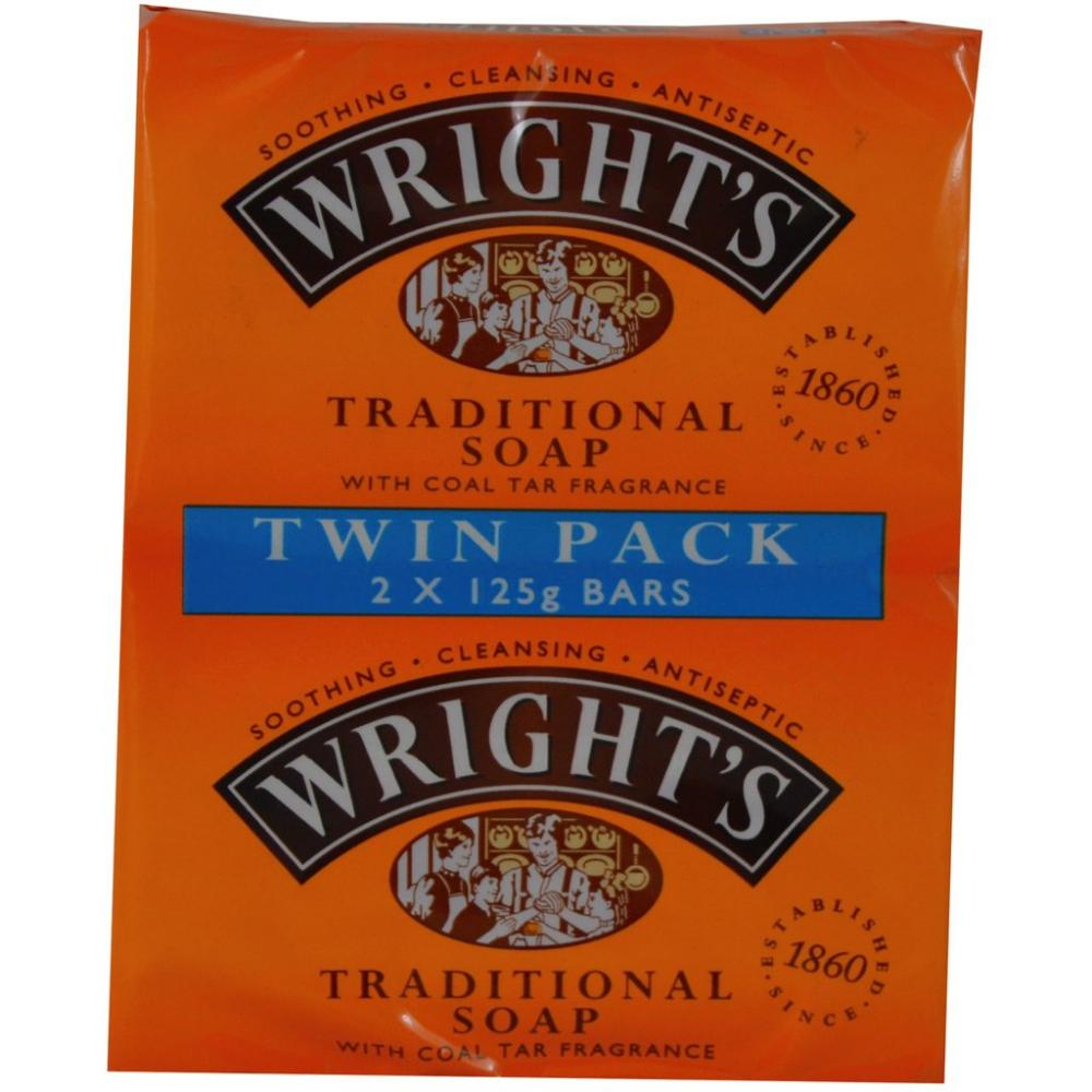 Wrights Traditional Soap with Coal Tar Fragrance Twin Pack - 2 x 125g