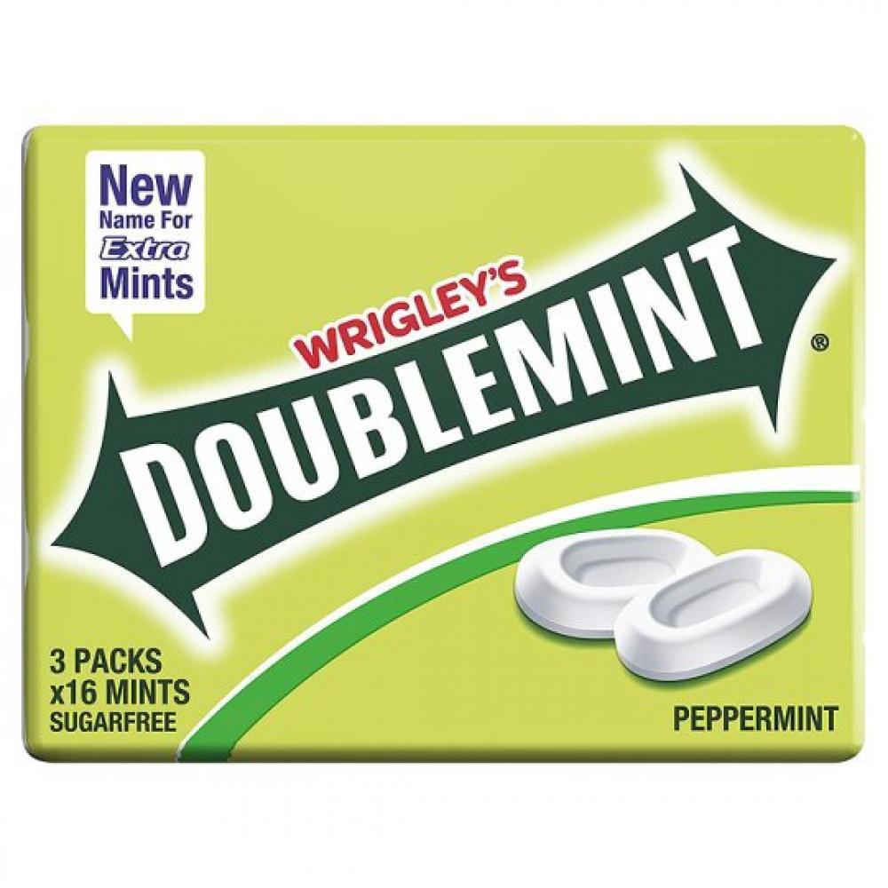 Wrigleys Doublemint Peppermint 16 mints x 3