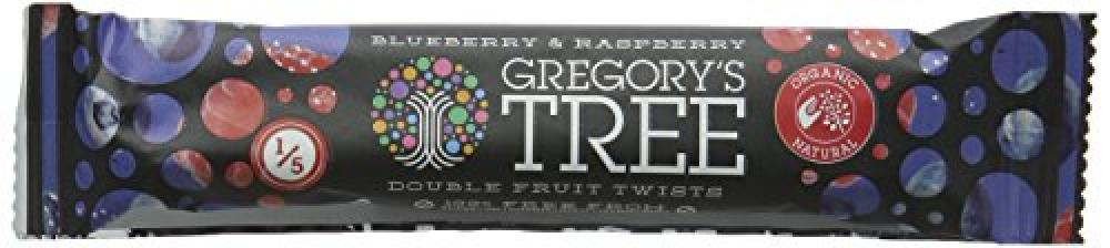 Gregorys Tree Organic Blueberry and Raspberry Double Twist Bar 18g