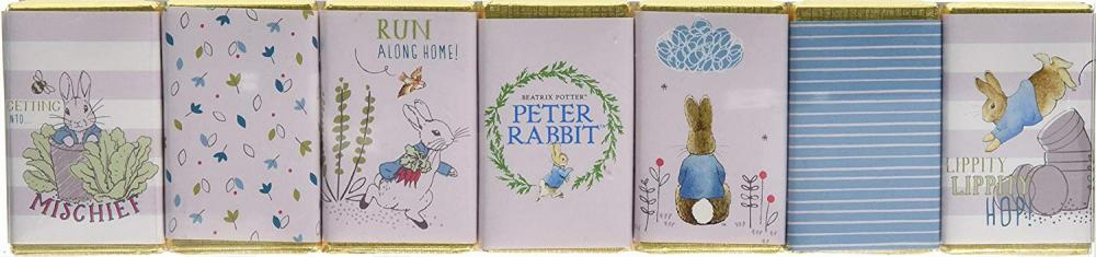 Charbonnel Et Walker Blue Peter Rabbit Friends Milk Chocolate Seven Slims Set 70g