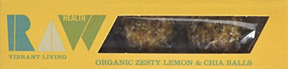 Raw Health Organic Energy Balls Lemon and Chia Seed 60g