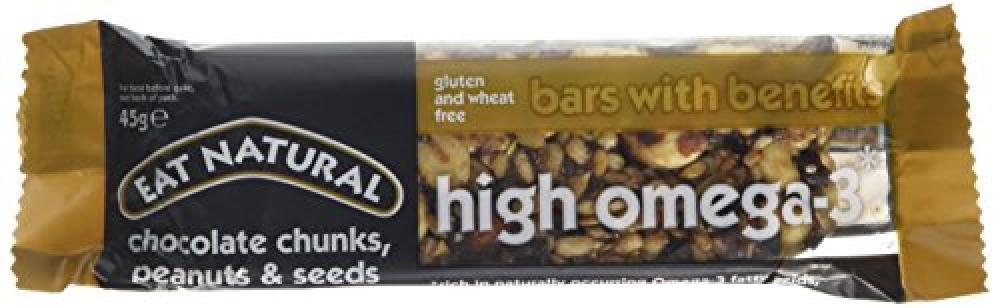 Eat Natural Chocolate Chunks Peanuts and Seeds Bar 45 g