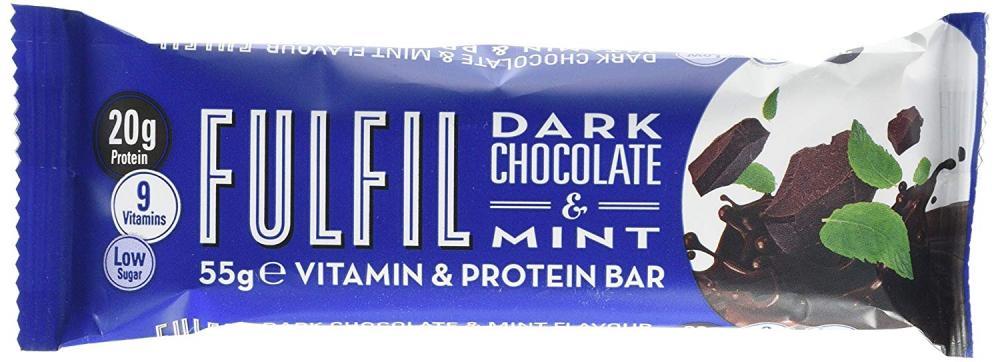 Fulfil Dark Chocolate and Mint Vitamin and Protein Bar 55g
