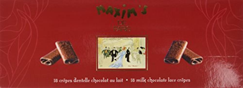 Maxims de Paris 18 Milk Chocolate Lace Crepes 90g