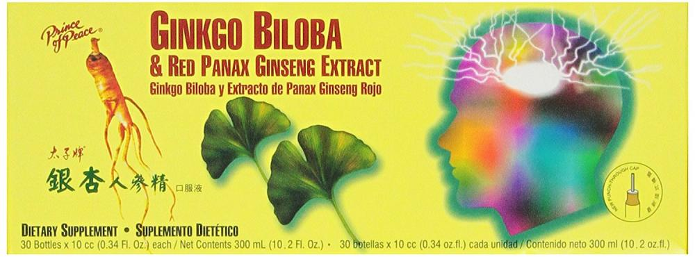 Ekong International Ltd Ginkgo Biloba and Red Panax Ginseng Extract 10x10ml