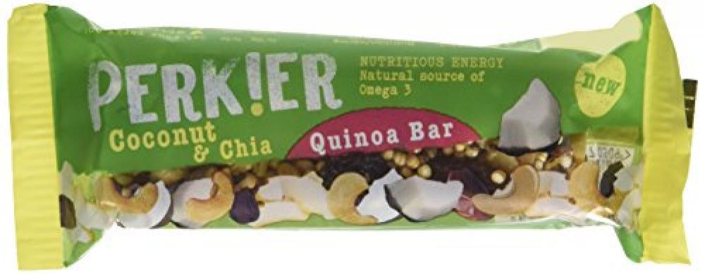 Perkier Coconut and Chia Quinoa Bar 35g