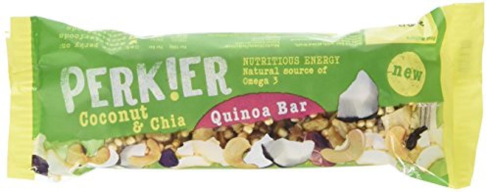 Perkier Coconut and Chia Quinoa Bar 35 g