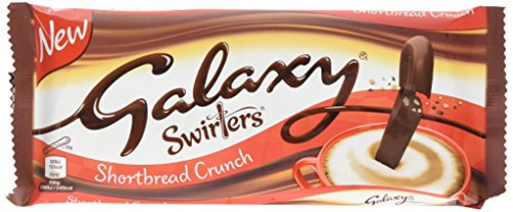 Galaxy Swirlers Shortbread Crunch 175g