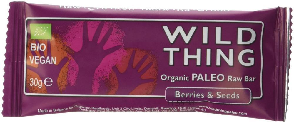 Wild Thing Organic Raw Berries and Seedpaleo Bar 30 g