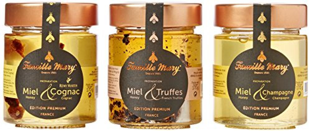 Famille Mary Pack of 3 Honey Jars - Miel Premium Edition 3x170g