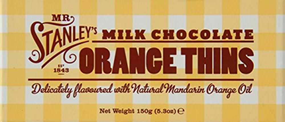Mr Stanleys Milk Chocolate Orange Thins 150g
