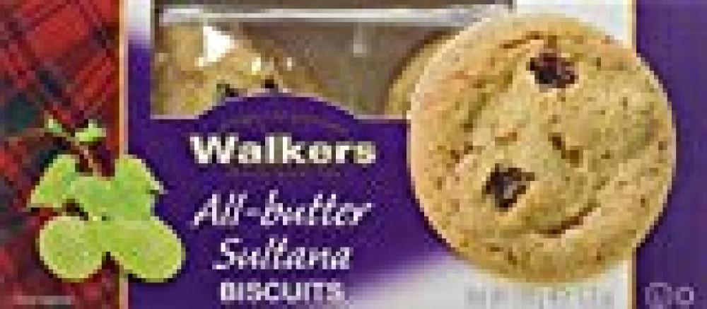 Walkers Shortbread All Butter Sultana Biscuits 150g