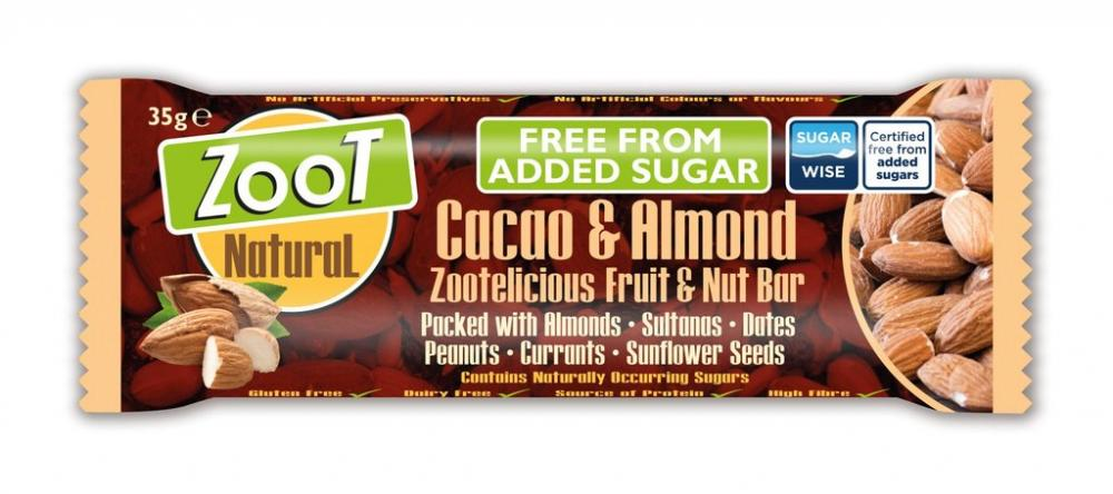 Zoot Natural Cacao and Almond Fruit and Nut Bar 35g