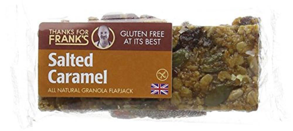 Thanks for Franks Salted Caramel Gluten Free Granola Flapjack Bar 55 g