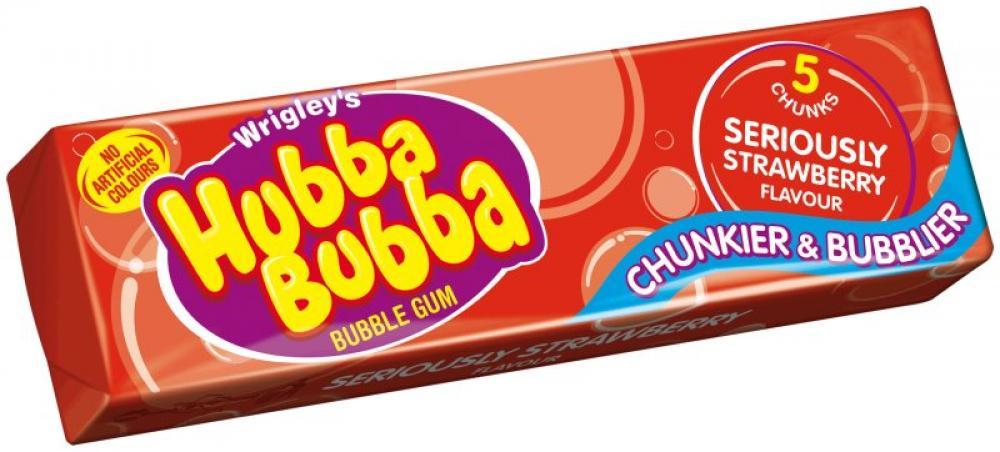 Hubba Bubba Seriously Strawberry 5 chunks
