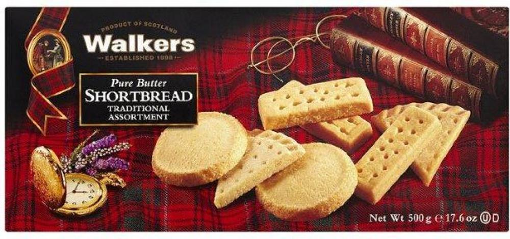 Walkers Pure Butter Shortbread Traditional Assortment 500g