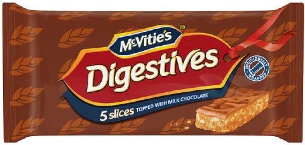 McVities Digestive Slices Milk Chocolate 5 pack