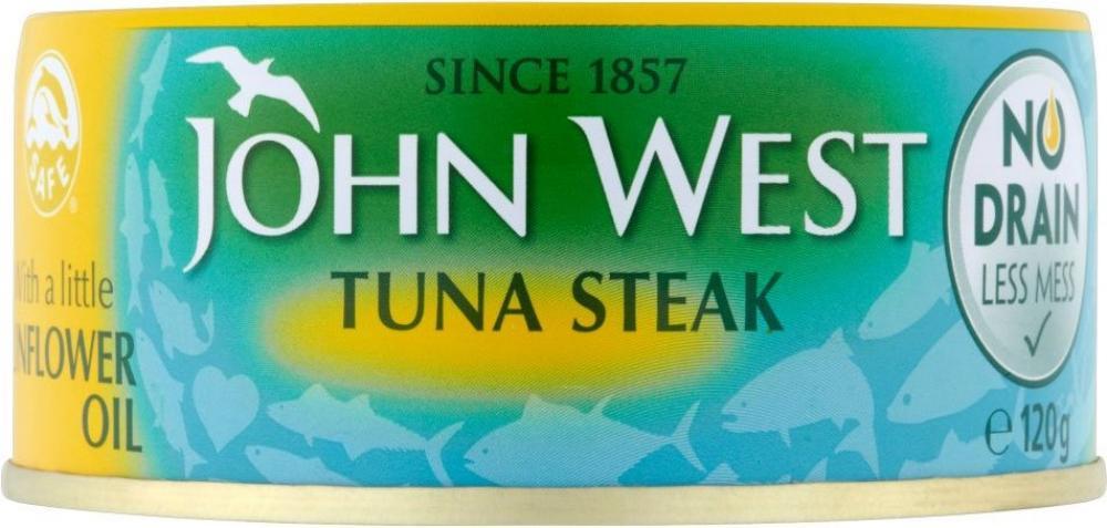 John West Tuna Steak in Sunflower Oil No Drain 120g