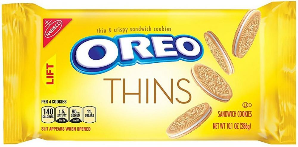 Oreo Thins Golden Sandwich Cookies 287g