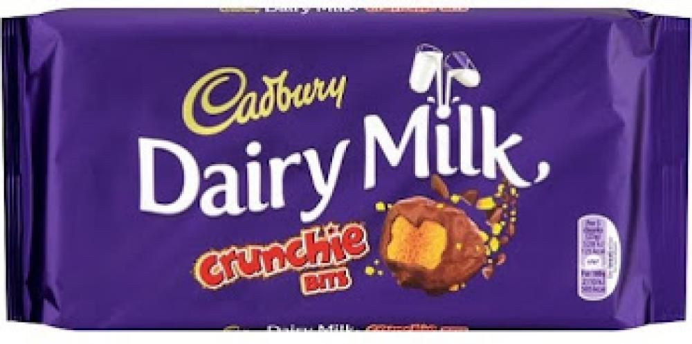 Cadbury Dairy Milk Crunchie Chocolate Bar 200g
