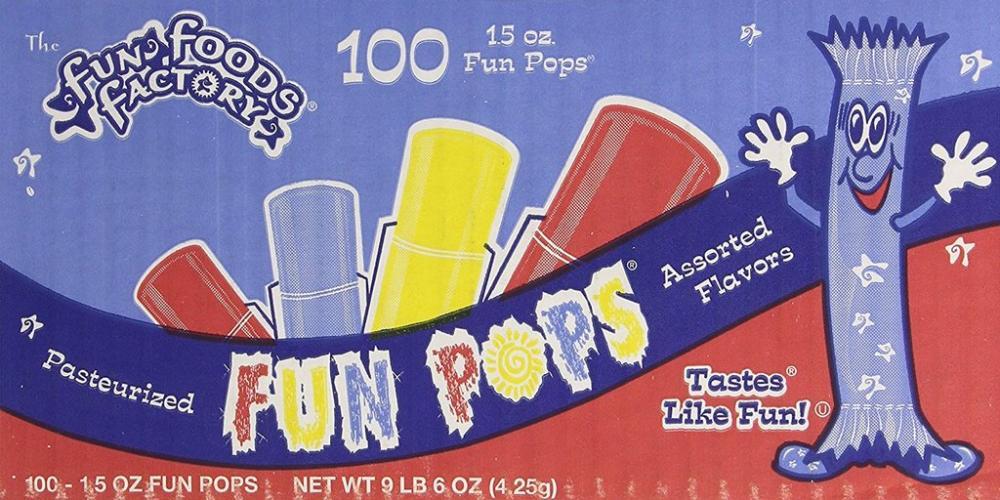 CASE PRICE  Fun Foods Factory Fun Pops 4.25g x 100
