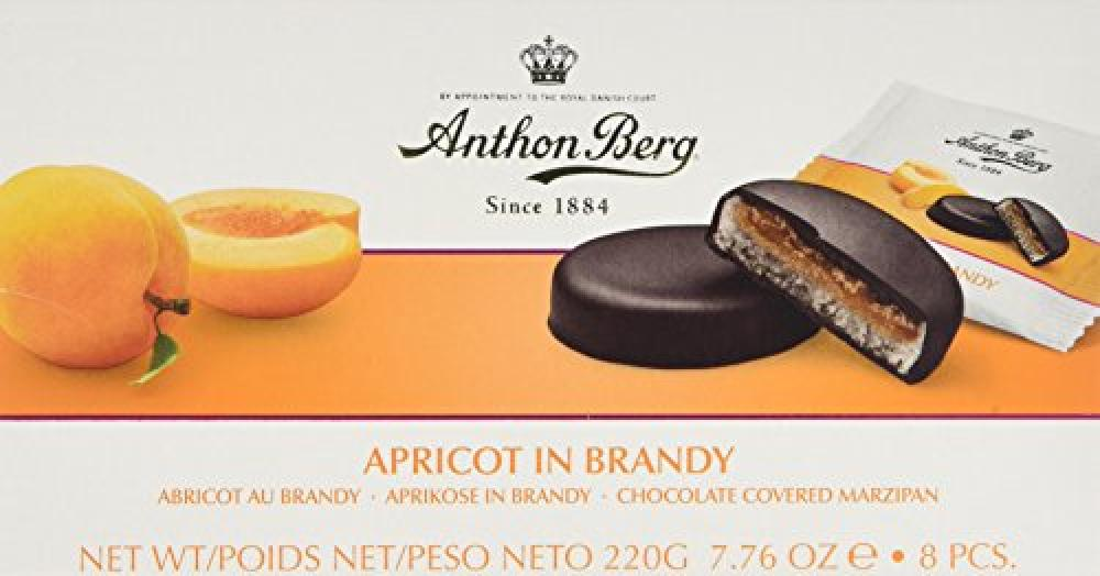 Anthon Berg Apricot and Brandy Marzipans 220 g