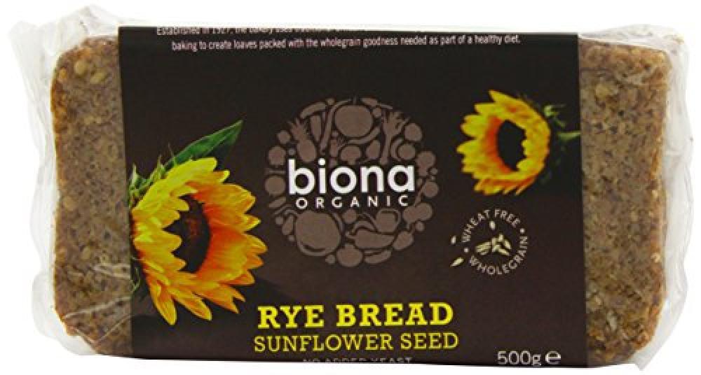 Biona Organic Rye Sunflower Seed Organic Bread 500 g