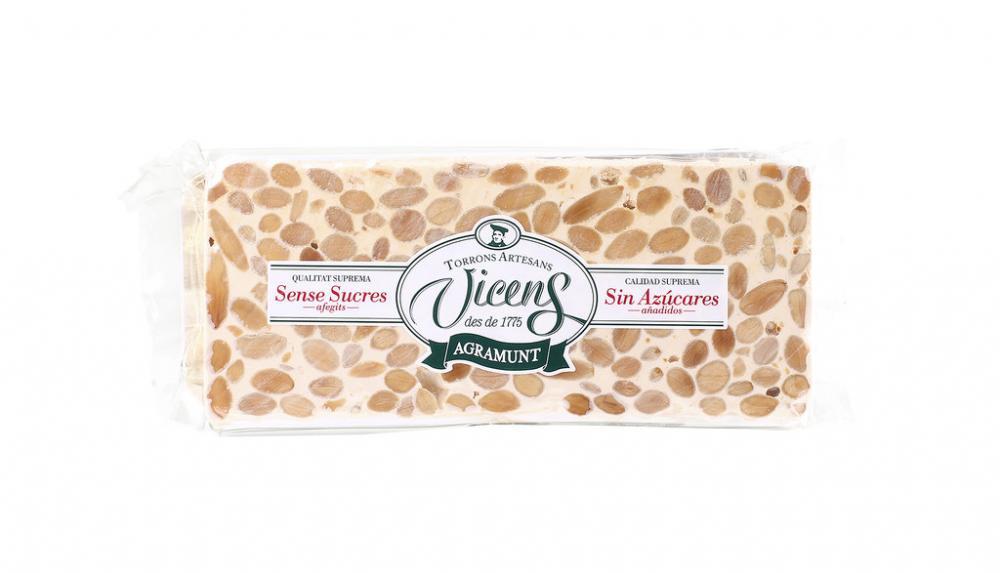 Vicens Sugar Free Hard Almond Gourmet Nougat 300g
