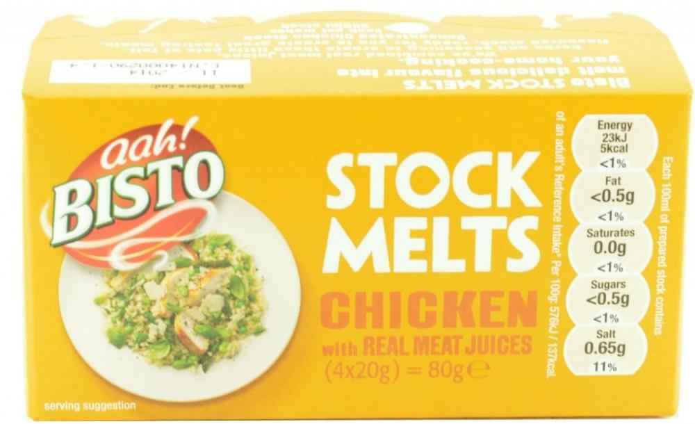CLEARANCE  Bisto Stock Melts Chicken 20g x 4