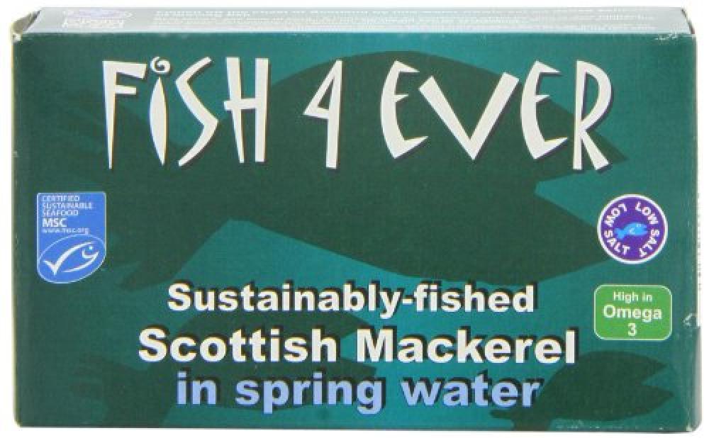 Fish 4 ever Mackerel in Spring Water 125 g