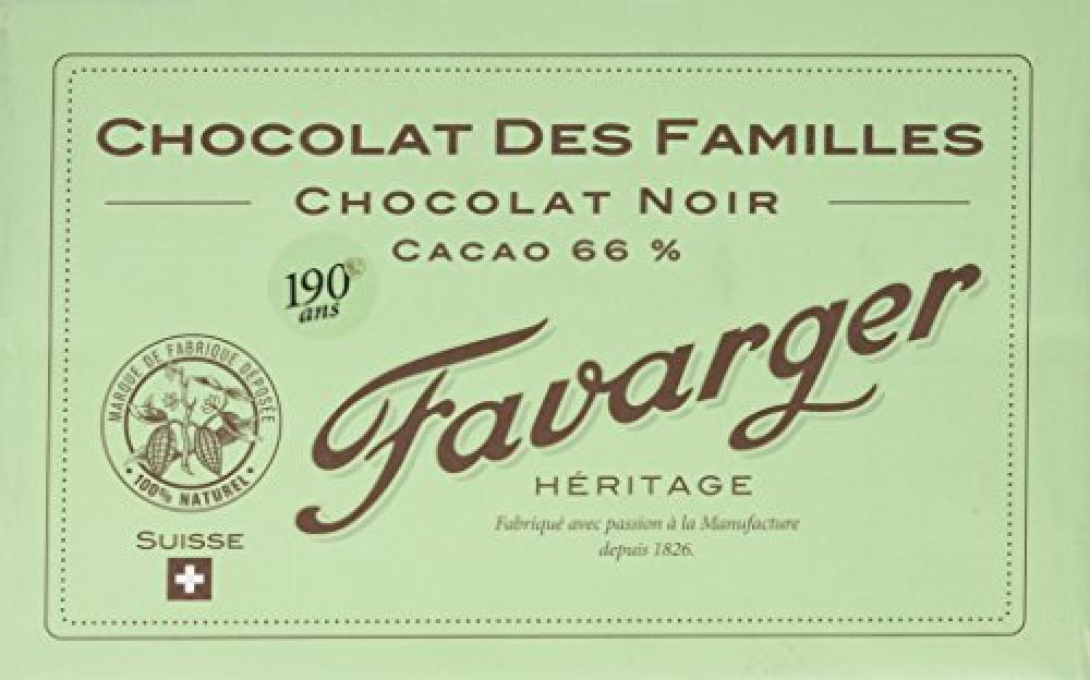 Favarger Heritage Dark Chocolate Bar 1kg