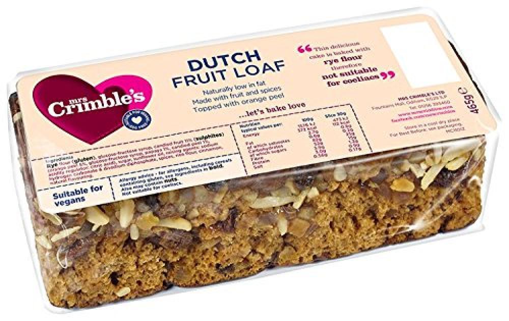 Mrs Crimbles Dutch Fruit Loaf 475 g