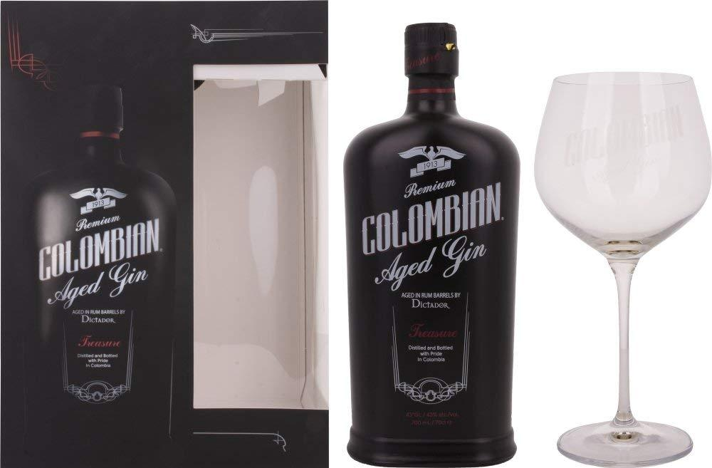 Dictador Premium Colombian Aged Treasure Gin With Glass Damaged Box 700ml