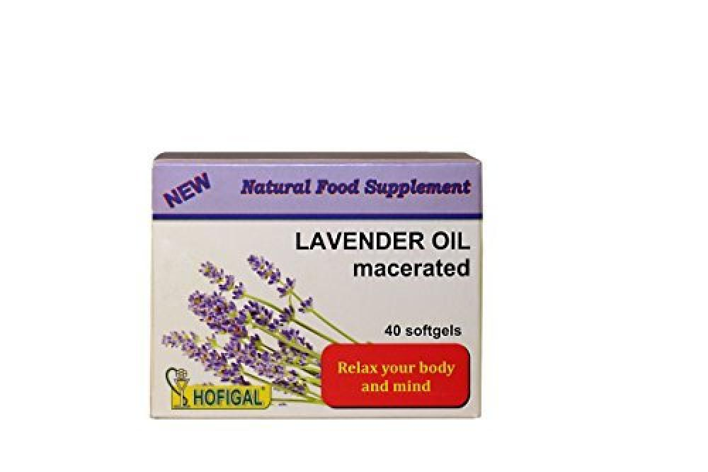 Hofigal LAVENDER OIL 500mg40 softgel capsulesStress and Anxiety Relief supplement