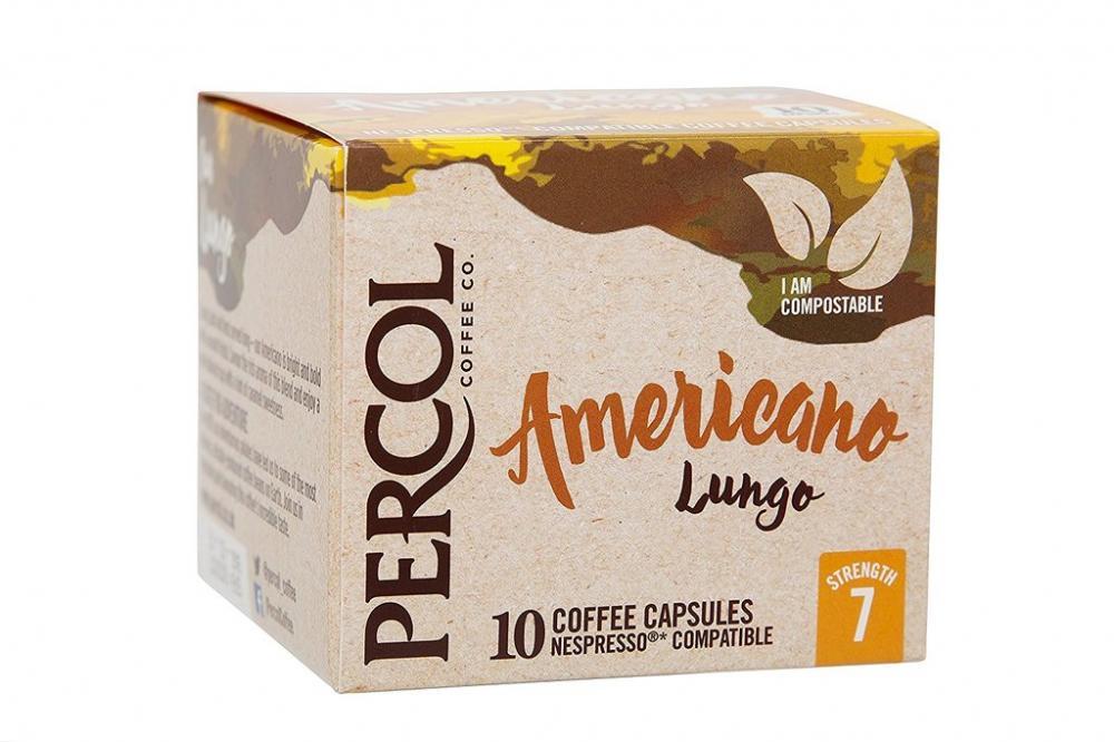 Percol Rainforest Alliance Americano Lungo Coffee Capsules x10 55g