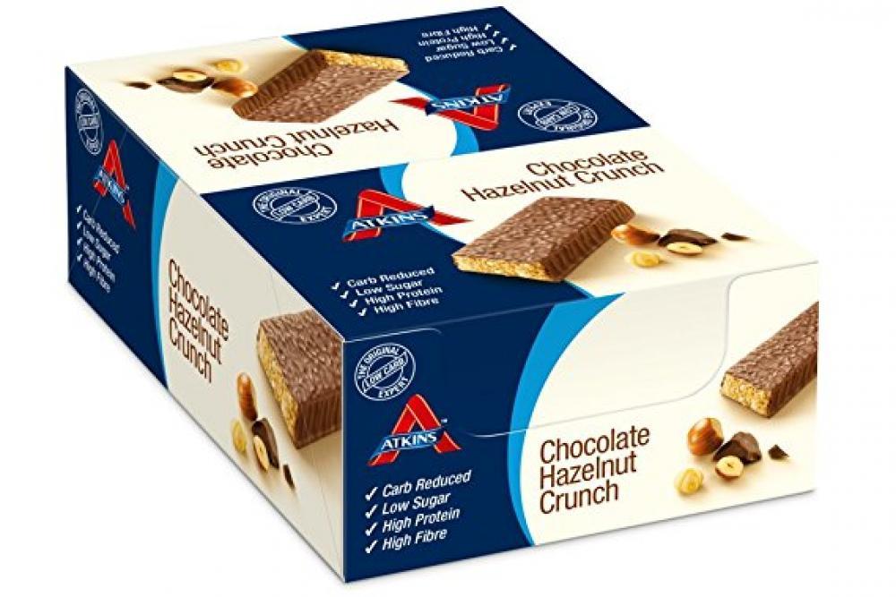 CASE PRICE  Atkins Chocolate Hazelnut Crunch Bars 16 x 60g