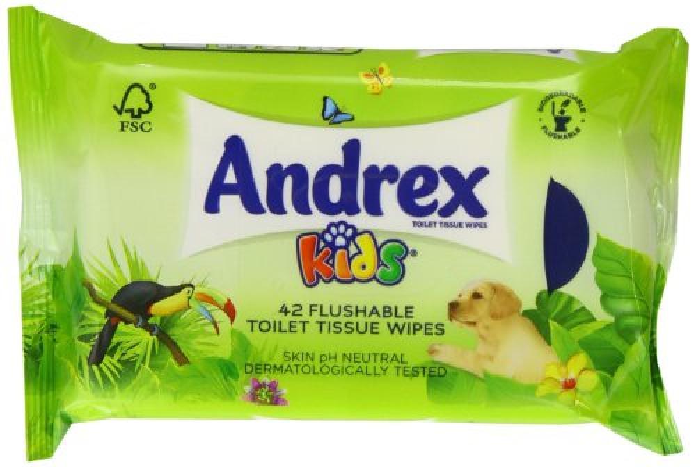 Andrex Washlets Flushable Toilet Tissue Wipes 42wipes