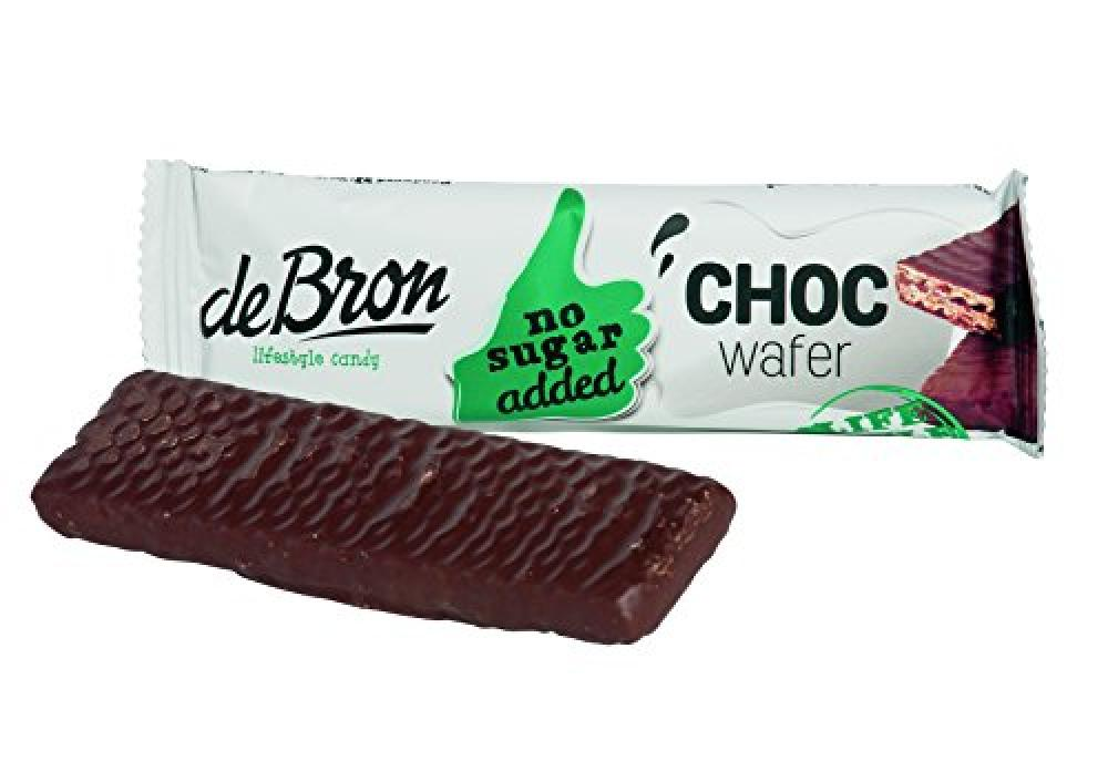 De Bron No Sugar Added Choc Wafer 34g