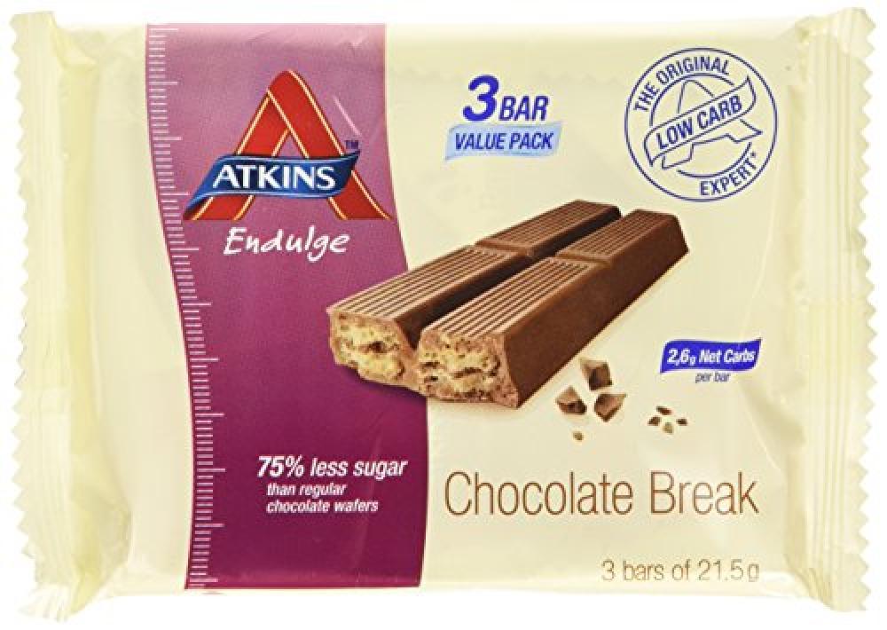 Atkins endulge Chocolate Break pack of 3x21.5g bars
