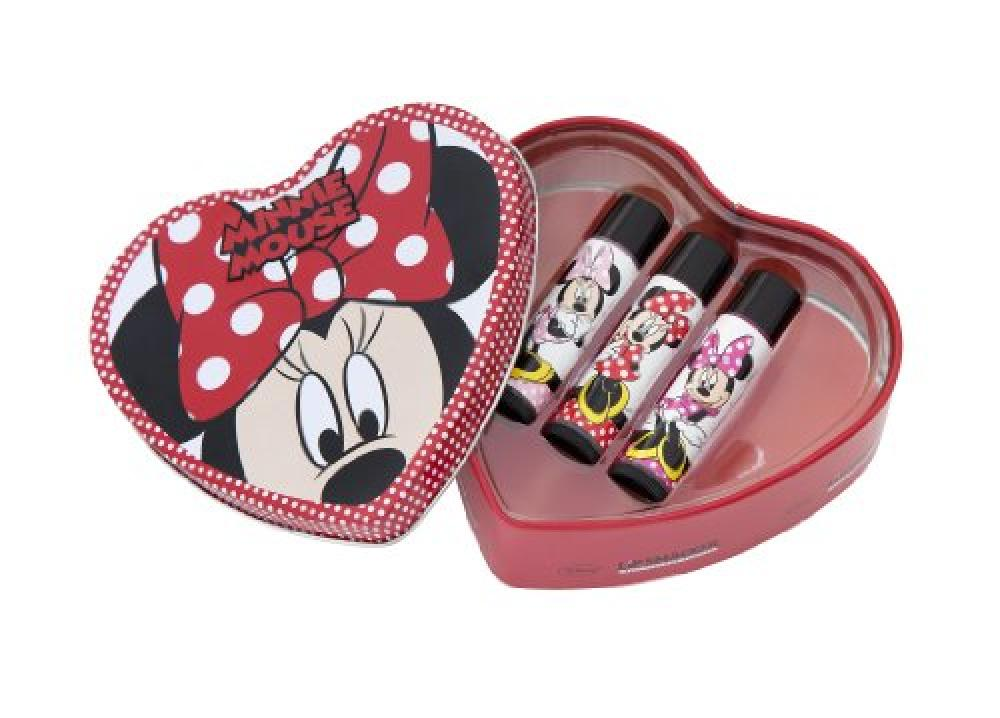 Lip Smacker Disney Minnie Polka Dots Heart Tin Box - 3 Piece
