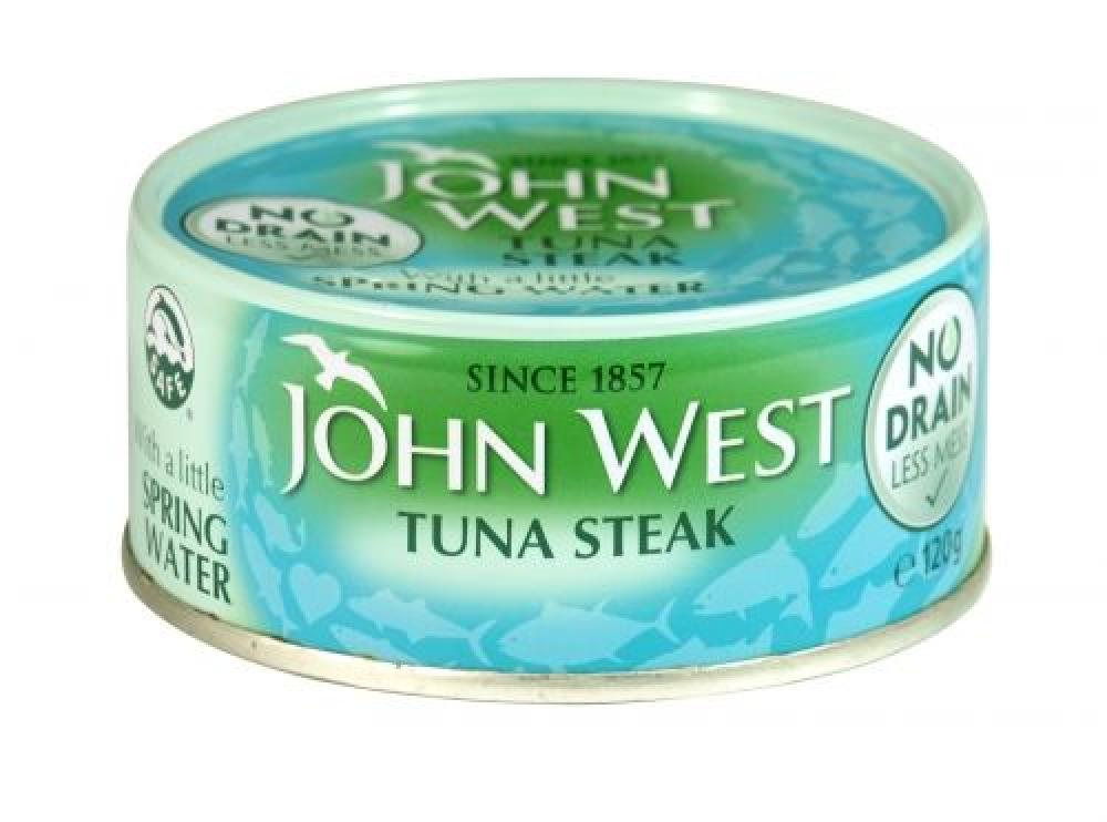 John West Tuna Steak in Spring Water No Drain 120g