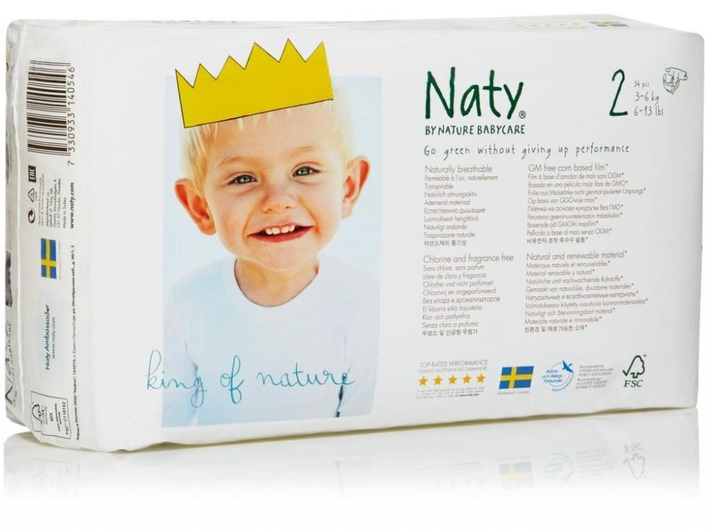 Naty By Nature Babycare Size 2 Carry Pack 34 Pieces