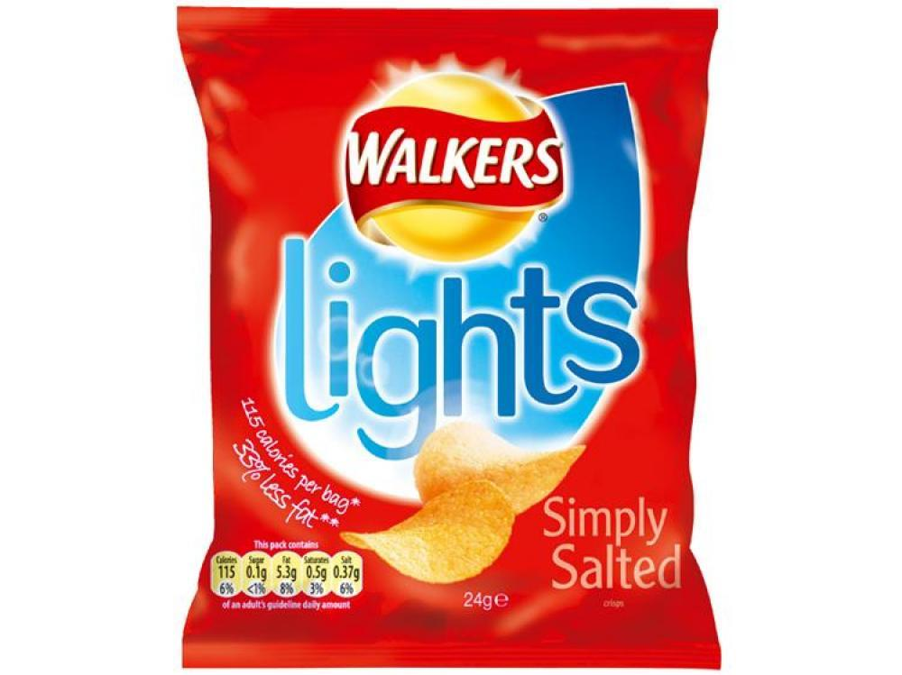 Walkers Lights Simply Salted 24g
