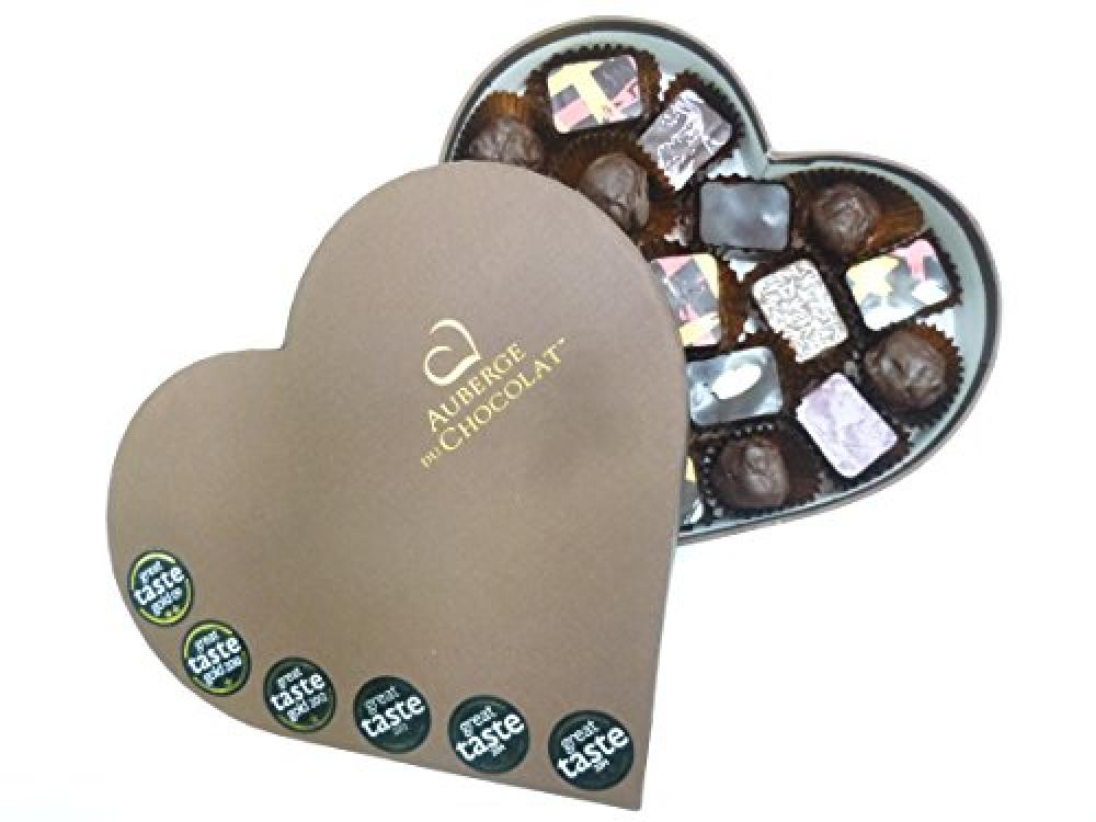 Auberge du Chocolate Gold Great Taste Award Selection Chocolate Heart Box 325 g