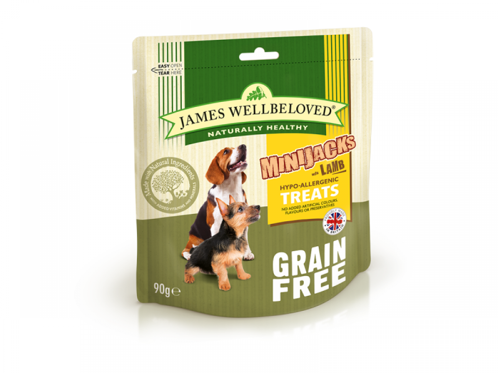 James Wellbeloved MiniJacks With Lamb Grain Free 90g