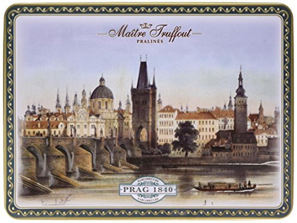 Gunz Maitre Truffout Nostalgic City Prague Tamino Pralines Duo with Hazelnut Cream 220g